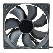 Black cooling fan