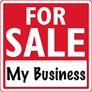 """""""For Sale"""" sign for a business"""