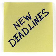 New Deadlines