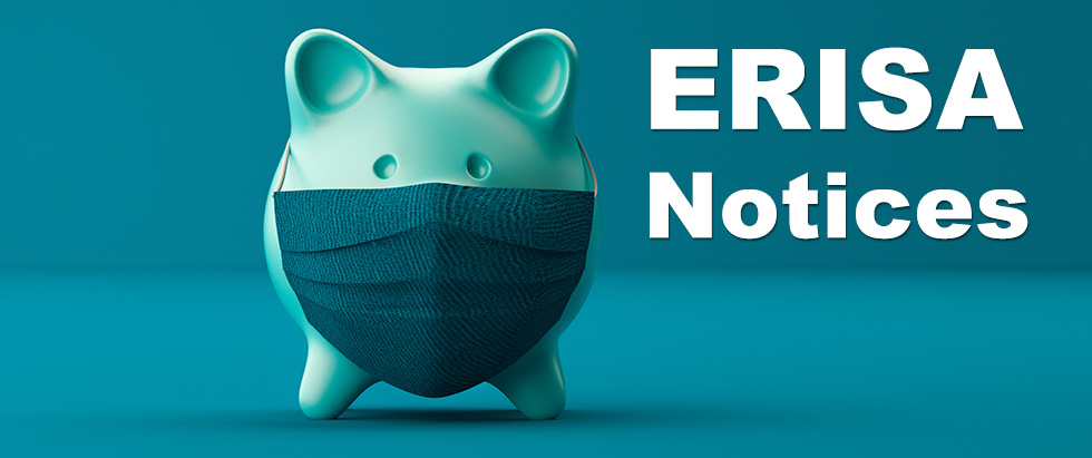 ERISA Notices - Piggy bank wearing a facemask