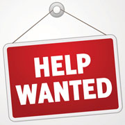 "Red ""Help Wanted"" Sign"