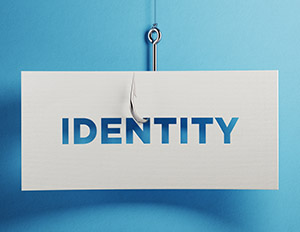 Phishing hook - identity theft