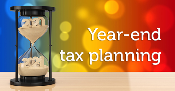 Hourglass sands changing from 2020 to 2021 - Year-end tax planning