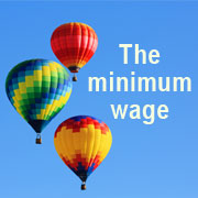 3 Hot air balloons - The minimum wage