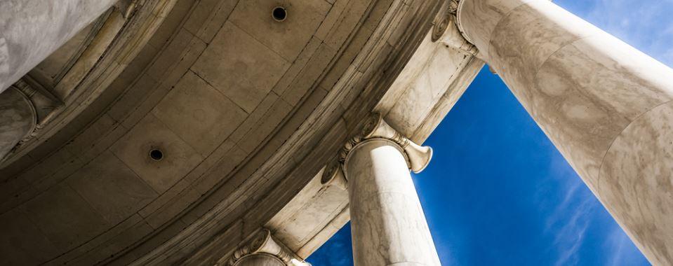 Capital building pillars