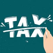 "The word ""TAX"" cut in half"