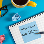 New tax provisions