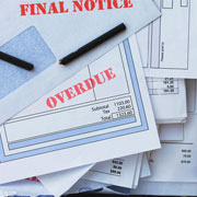 """Documents labeled """"final notice"""" and """"overdue"""""""