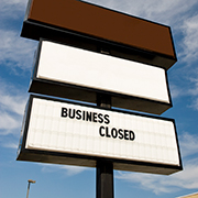 """Business Closed"" sign"