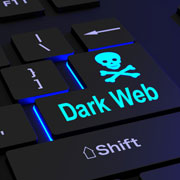 "Keyboard button labeled ""Dark Web"""