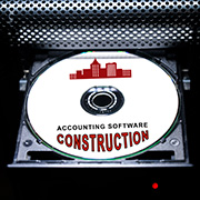 """CD labeled """"Construction Accounting Software"""""""