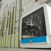 time clock and punch cards