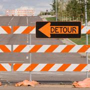 roadblock - construction detour