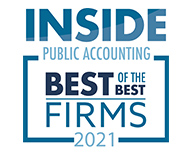 Inside Public Accounting - Best of the Best Firms 2021