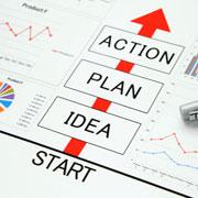 'Idea -> Plan -> Action' diagram