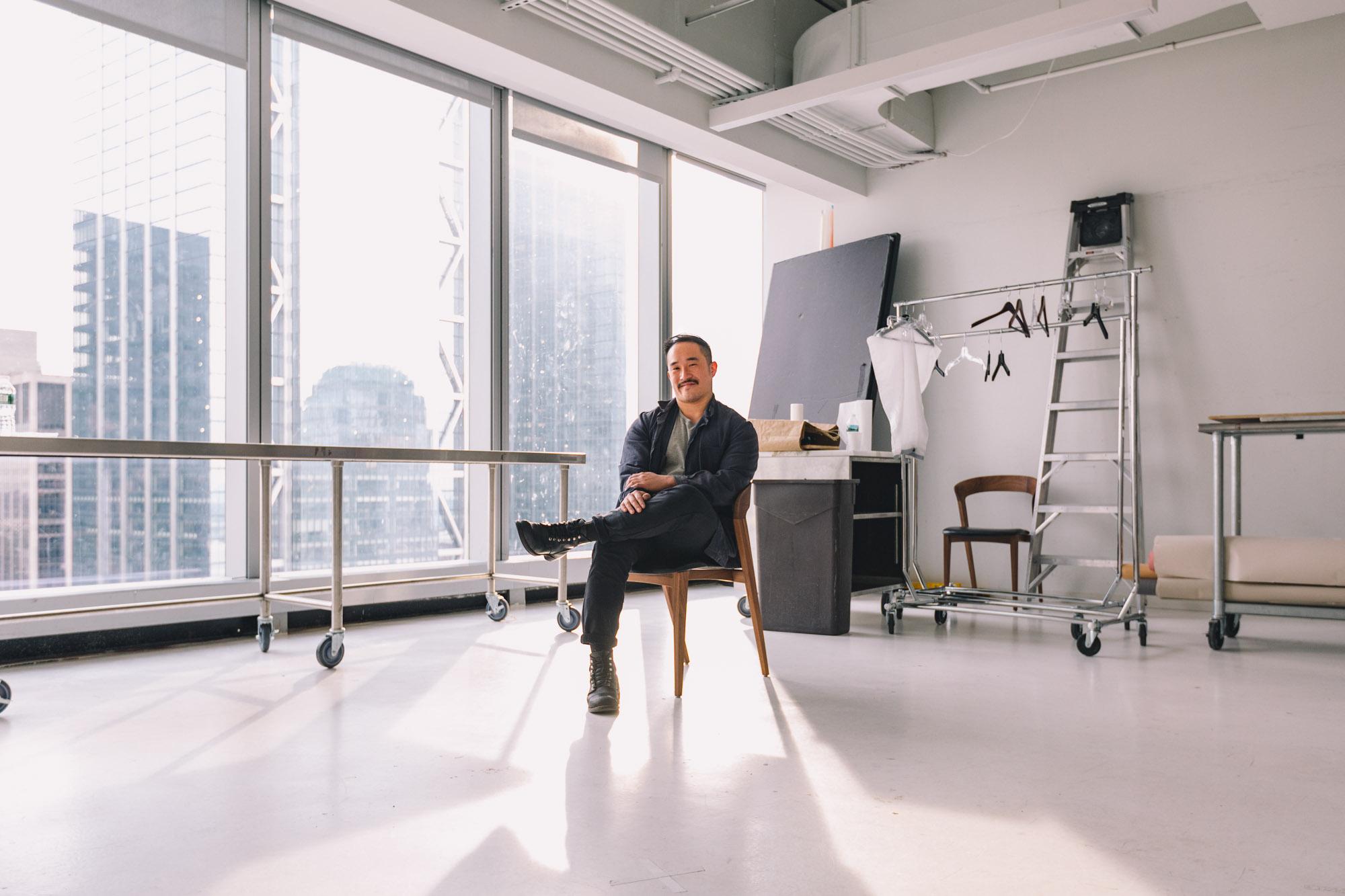 Portrait of Alex Lau in the Bon Appétit photo studio