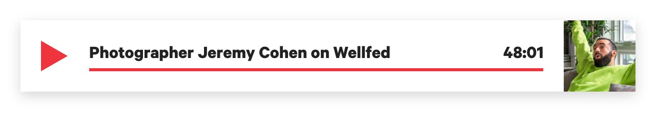 Wellfed Podcast with Photographer Jeremy Cohen