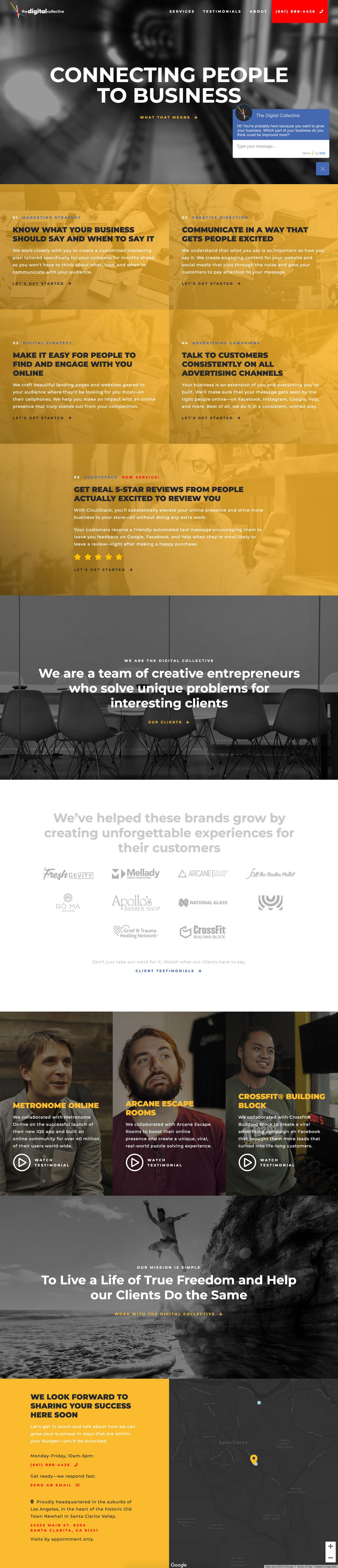 Landing Page design for a digital marketing agency.