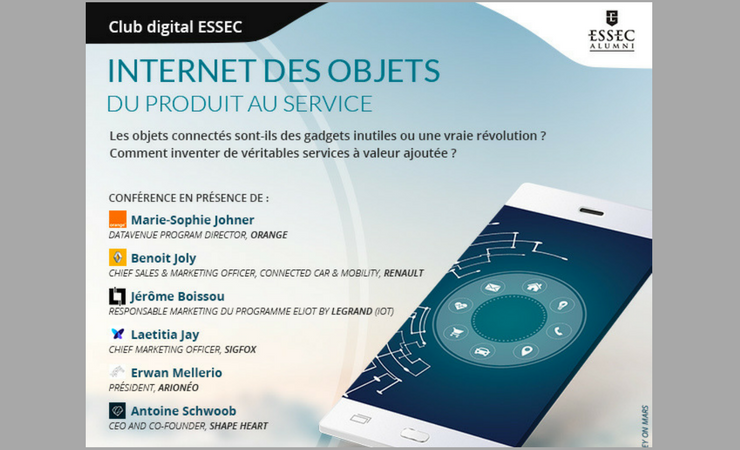 "Conférence club ESSEC Digital : ""IoT : du produit au service"""