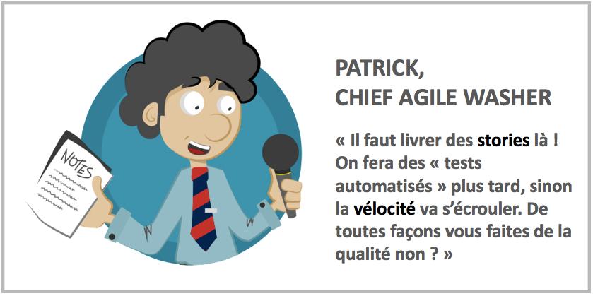 Intro Technologie : conserver du temps pour les tâches techniques Agile washing: attention, toxique!