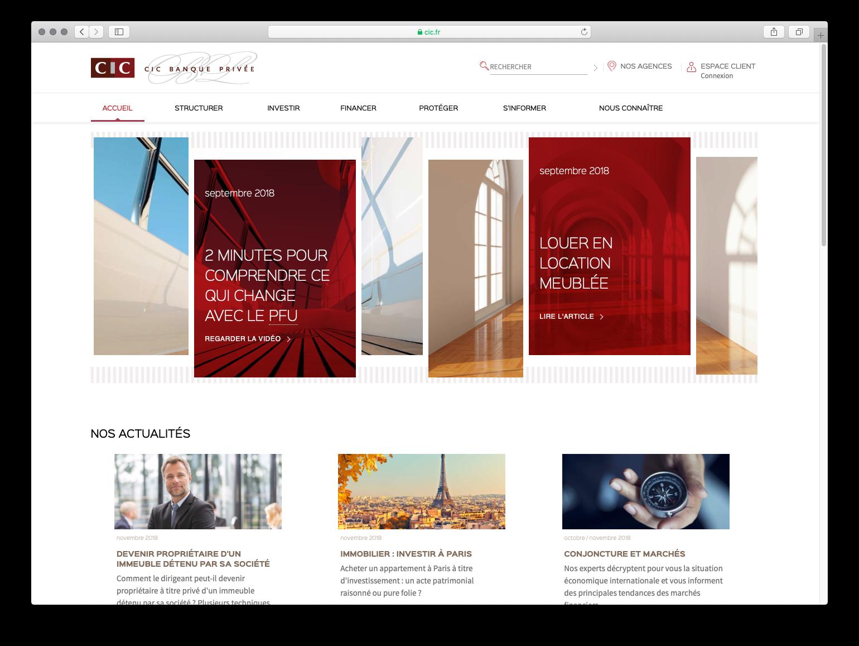 nouveau site CIC Banque Privée
