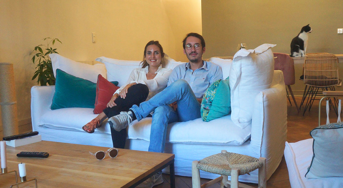 Appartement de Carole et Baptiste à Nantes sélectionné par les dénicheuses