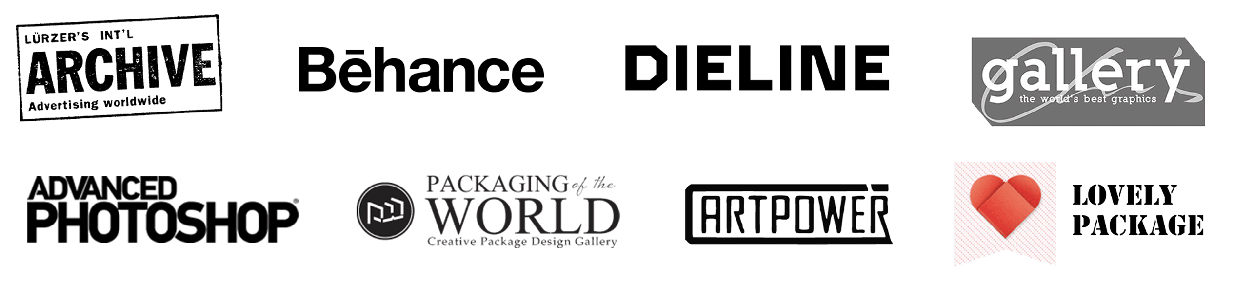 logo list of selected features