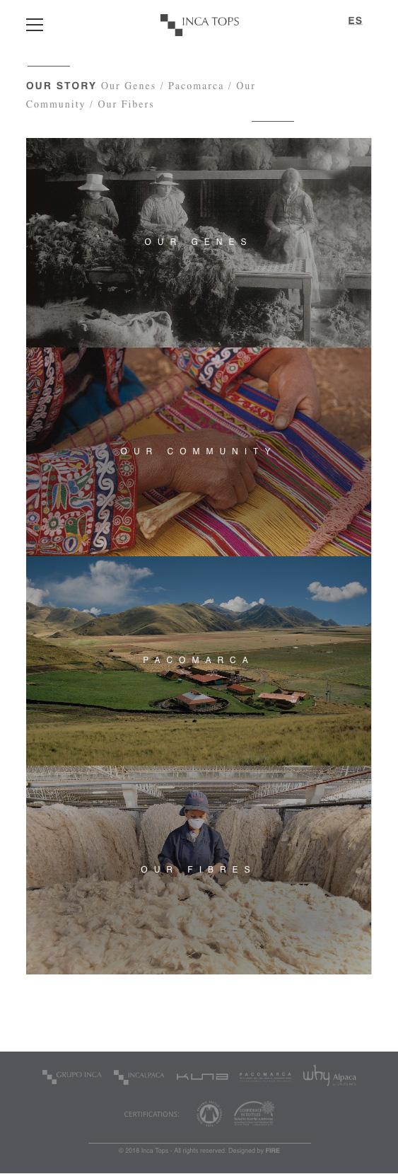 Inca Tops website - Home