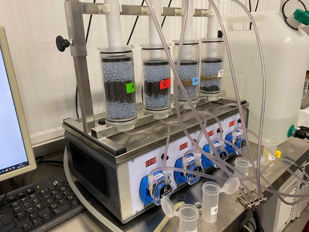 Neue Laboranlage zur Bewertung der Freisetzung von Stickstoff & Co. aus Düngemitteln