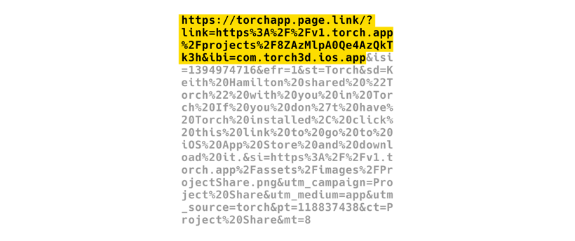Follow these instructions to get the embeddable Torch project URL