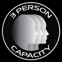 3 person capacity