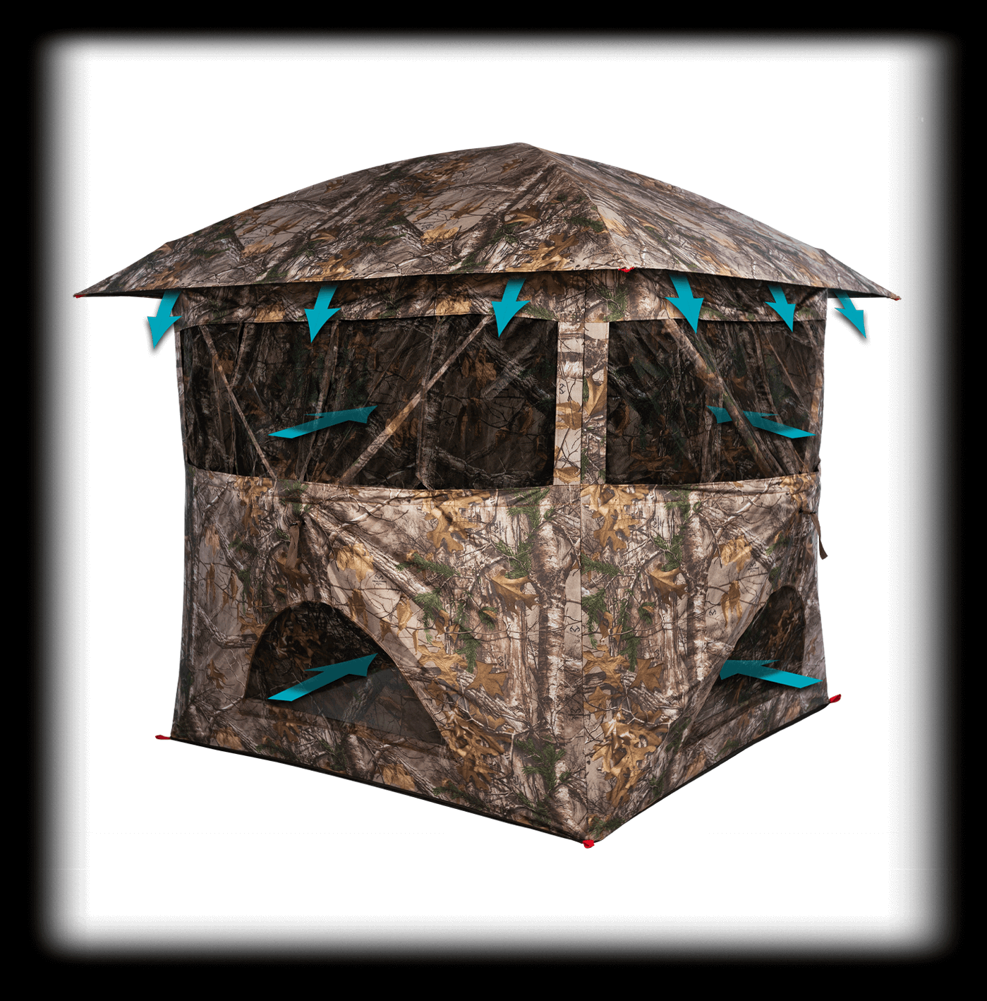 MODEL #PTBB-725 BREEZE VENTED HUB STYLE GROUND BLIND
