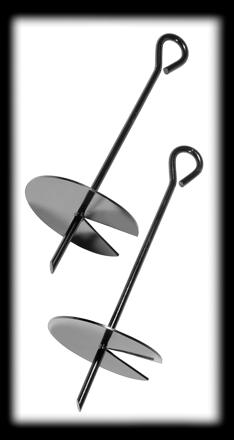 MODEL #PTAS-105 AUGER STAKES 2-PACK