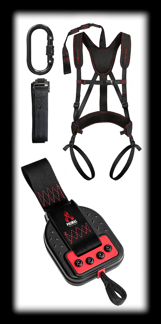 MODEL #PTDC-901 THE DESCENDER DEVICE AND FULL-BODY HARNESS COMBO