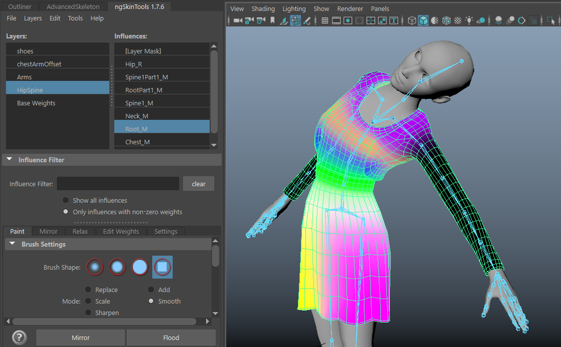 Image of 3D conversational avatar being rigged