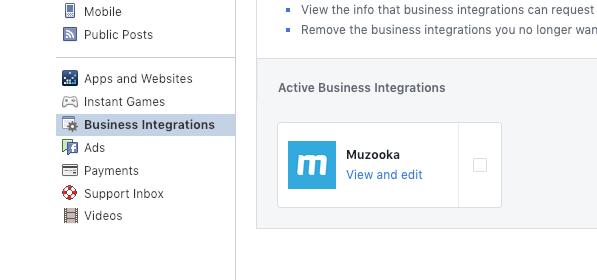 Facebook Business Integrations