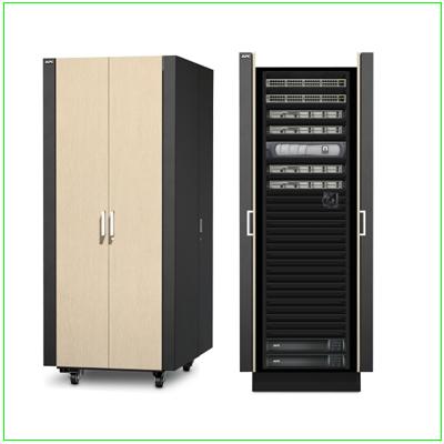 Salle de serveurs insonorisée sécurisée NetShelter CX 38U dans coffret universel