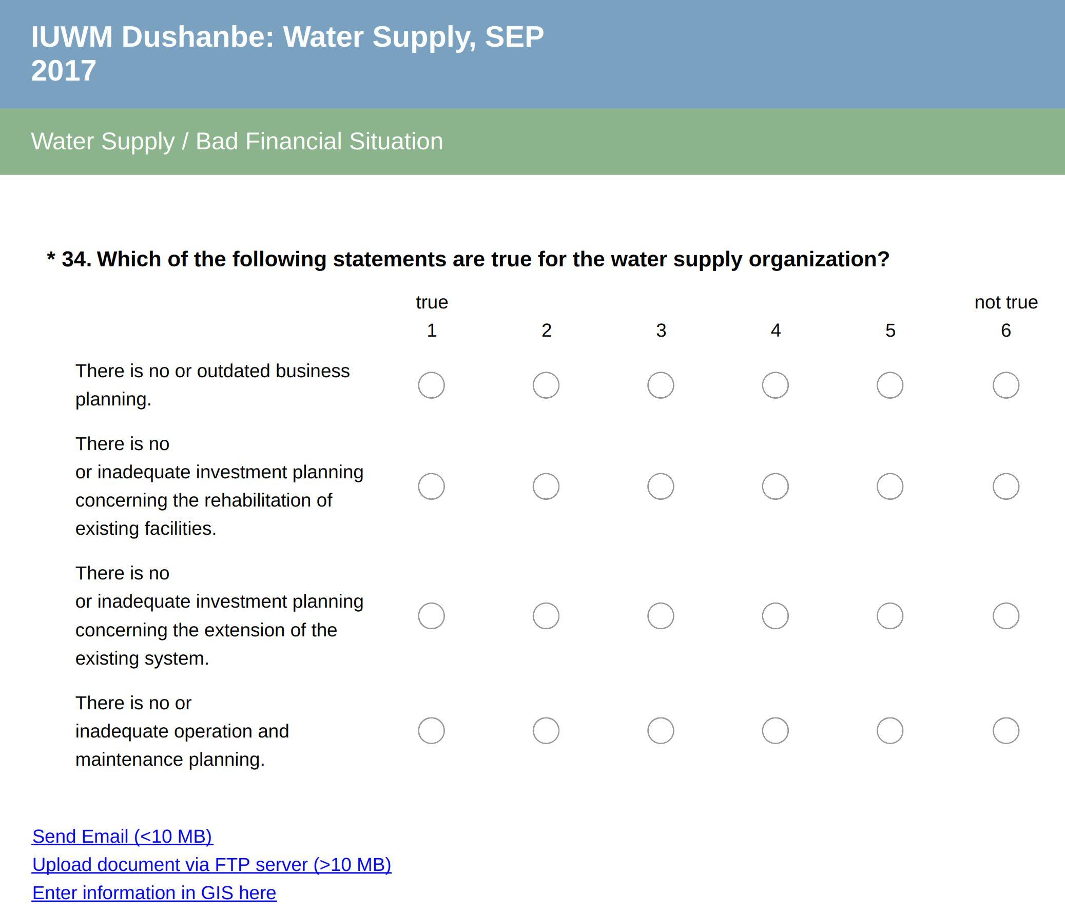 Screenshot of the Quick Scan Tool, by EBP Schweiz AG