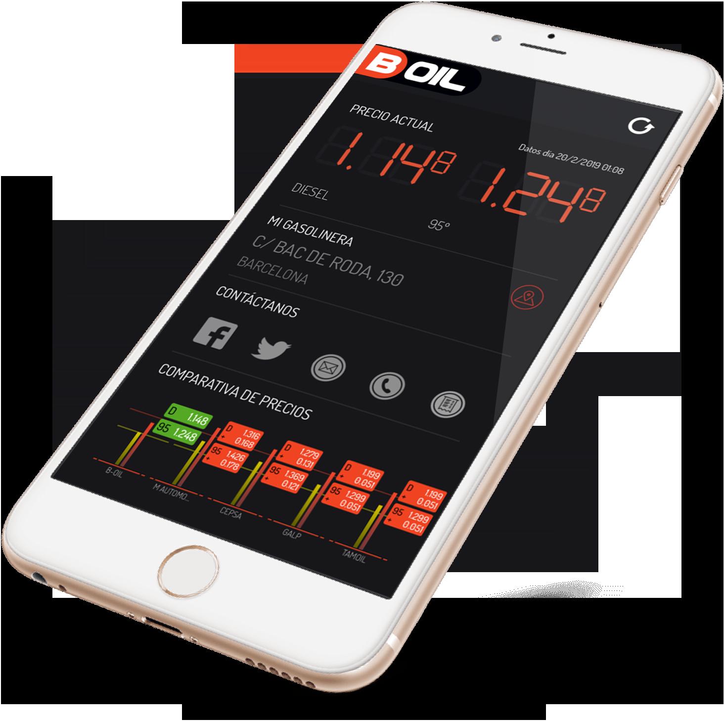 B-Oil mobile app solution in iPhoneX