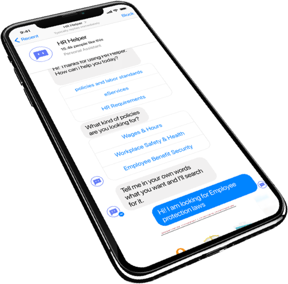 Starshot HR Chatbot app in IphoneX