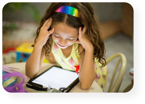 kid studying with a tablet - Starshot Education Solutions