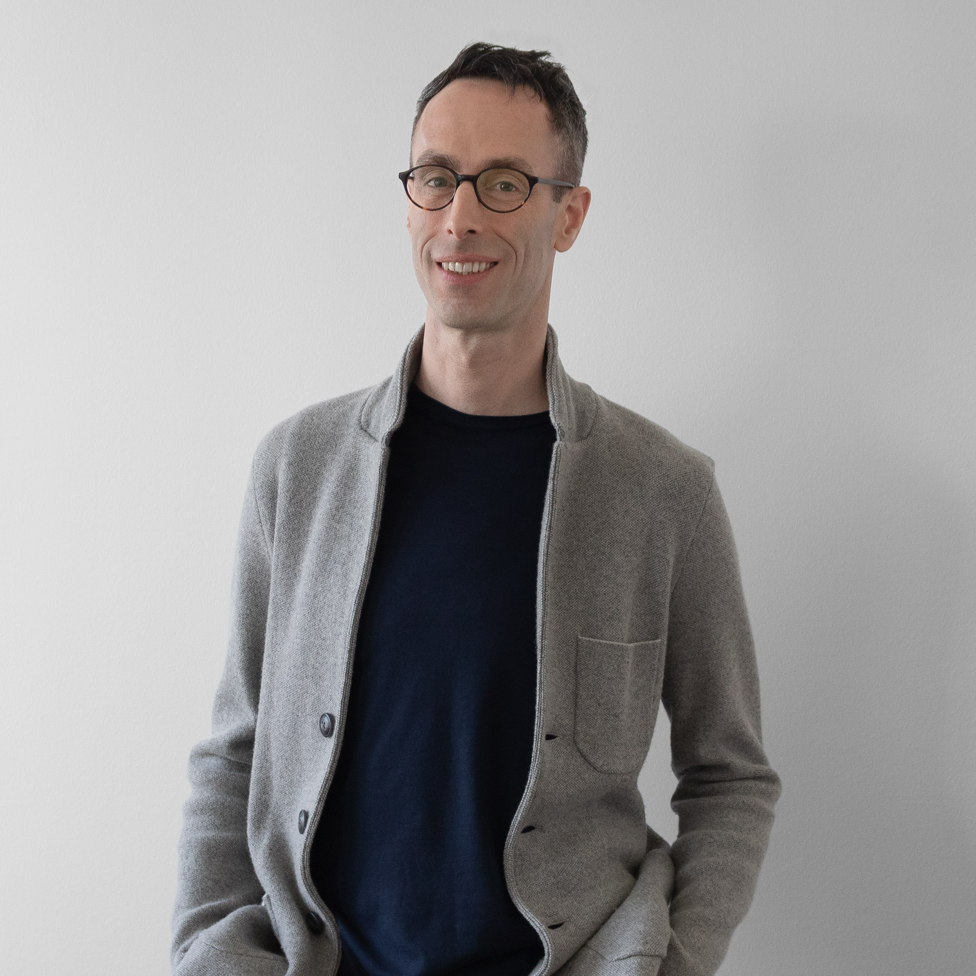Portrait of interior designer Dan Hazeldean