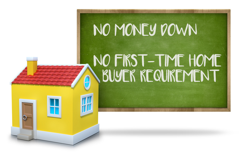 Buy A Home With NO MONEY DOWN And NO First-time Home Buyer Requirement