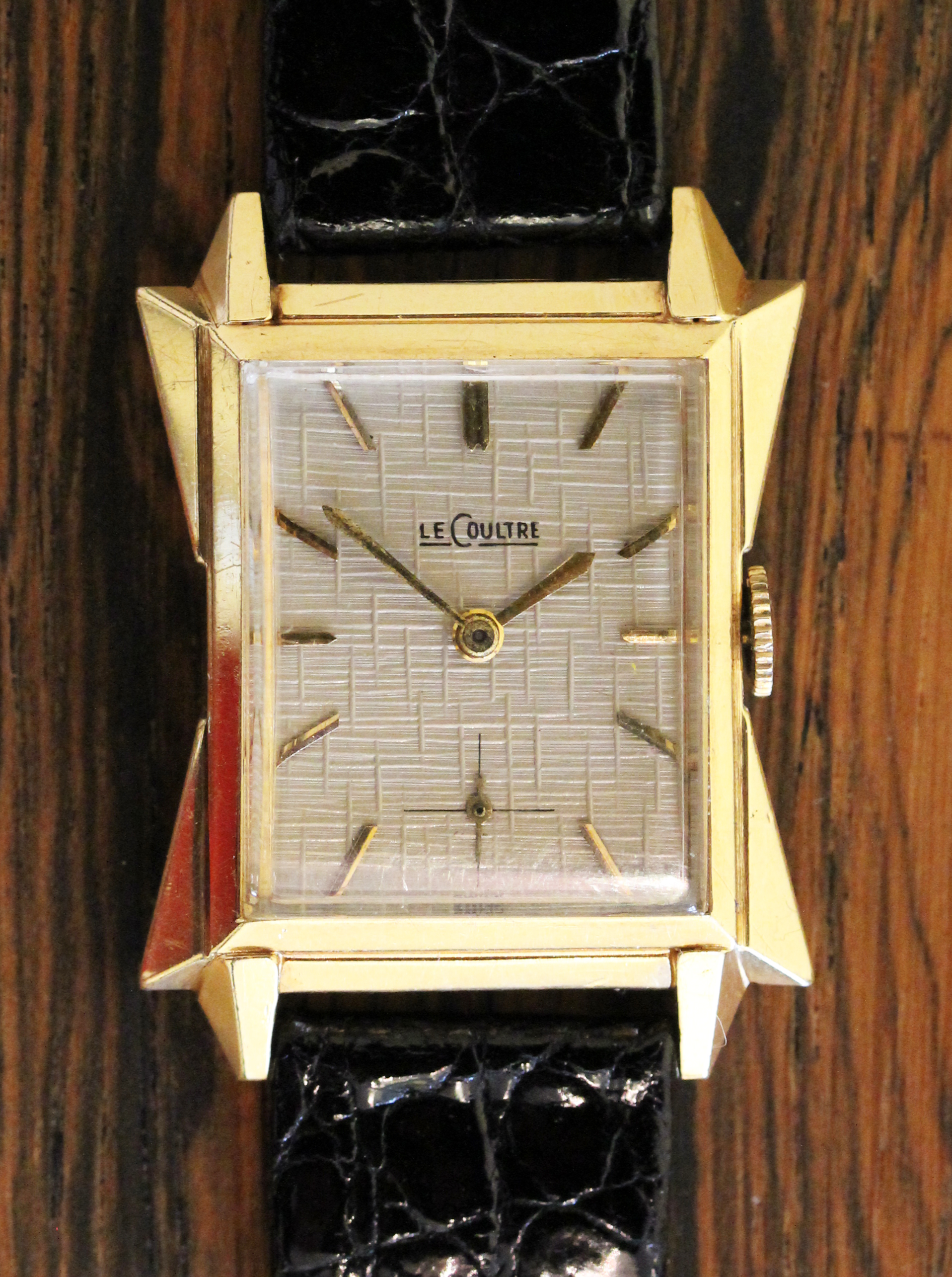 LeCoultre in  Art Deco gold case