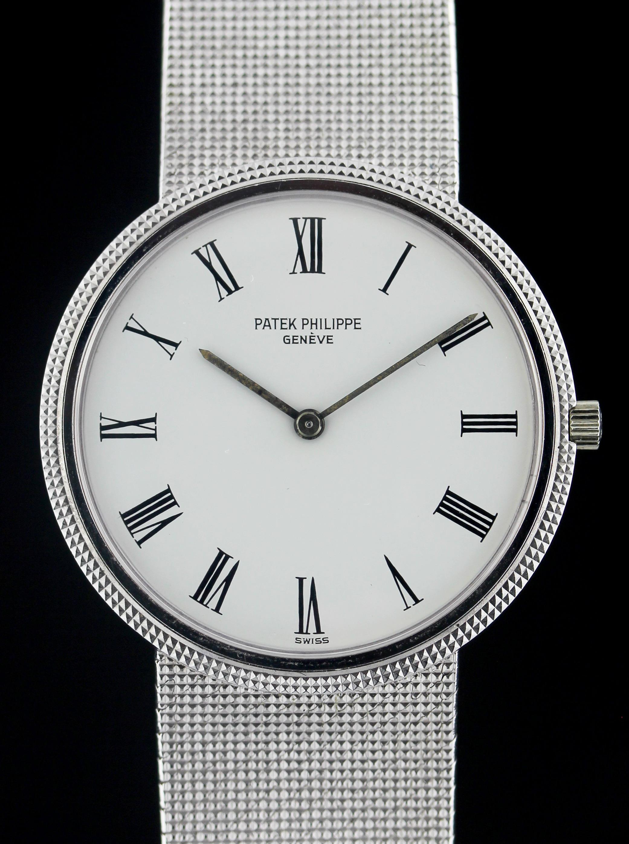 Patek Philippe Calatrava in white gold, ref. 3520