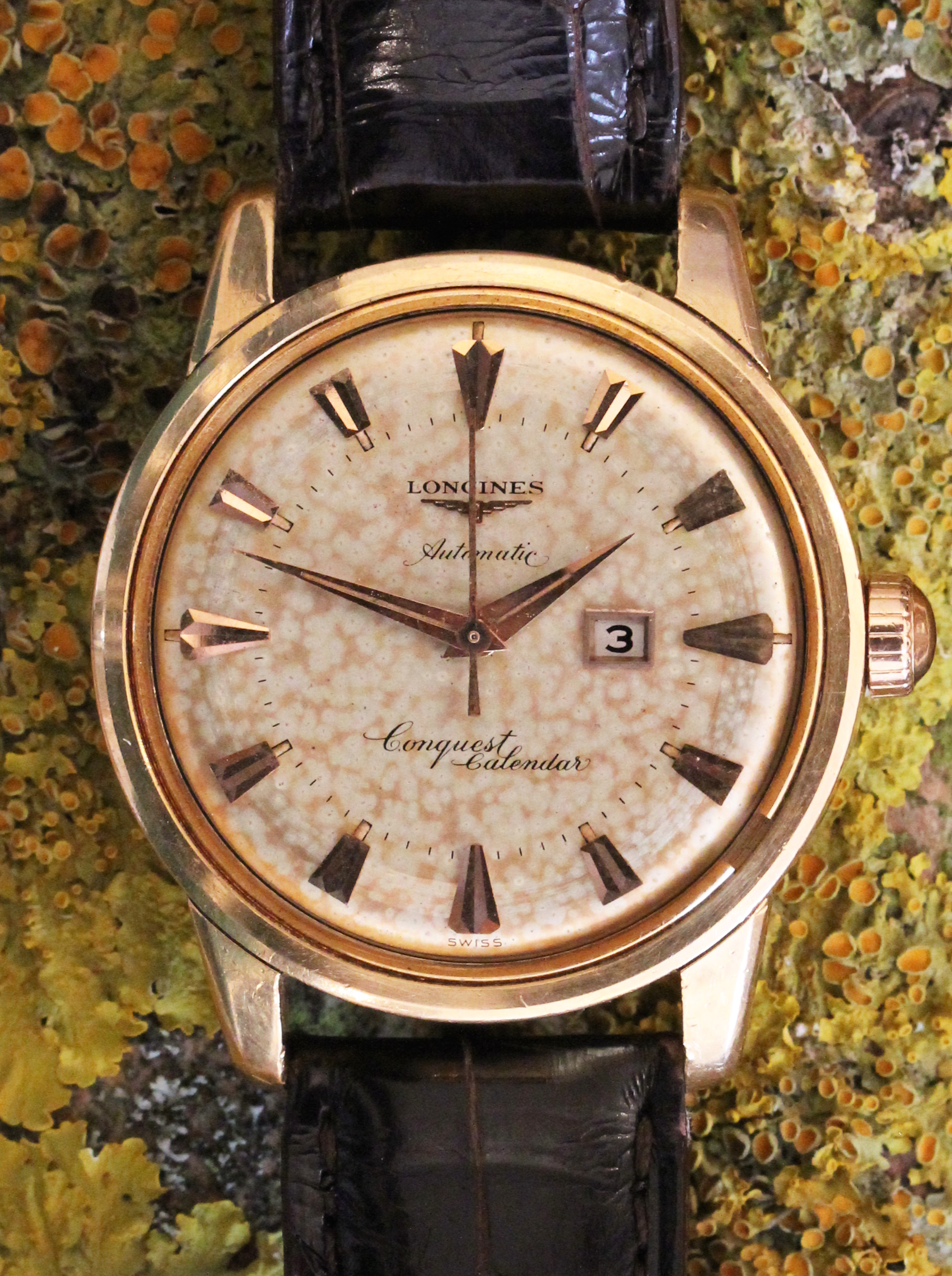 Longines Conquest Calendar in pink gold