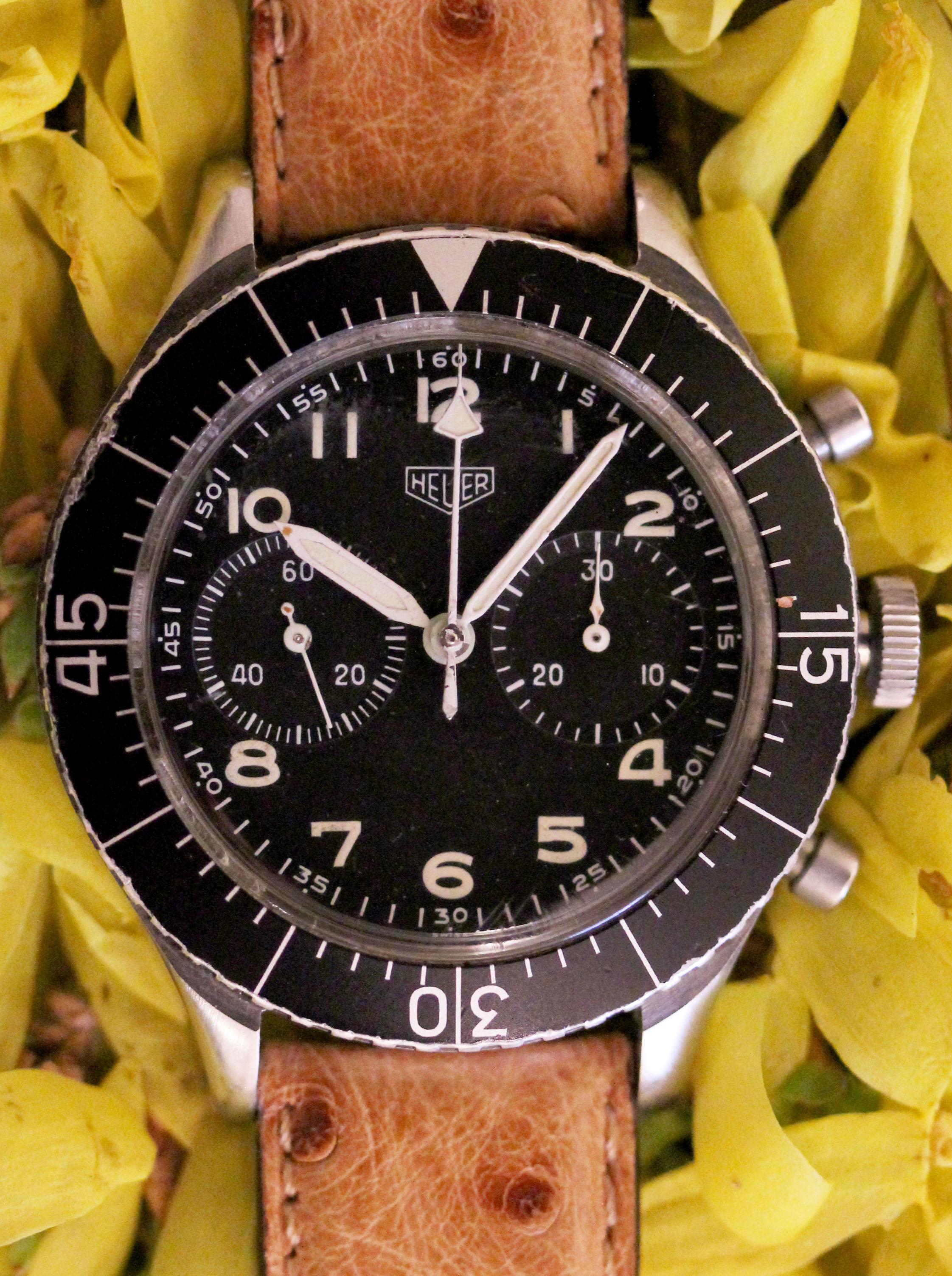HEUER Bundeswehr chronograph, ref. 1550 SG