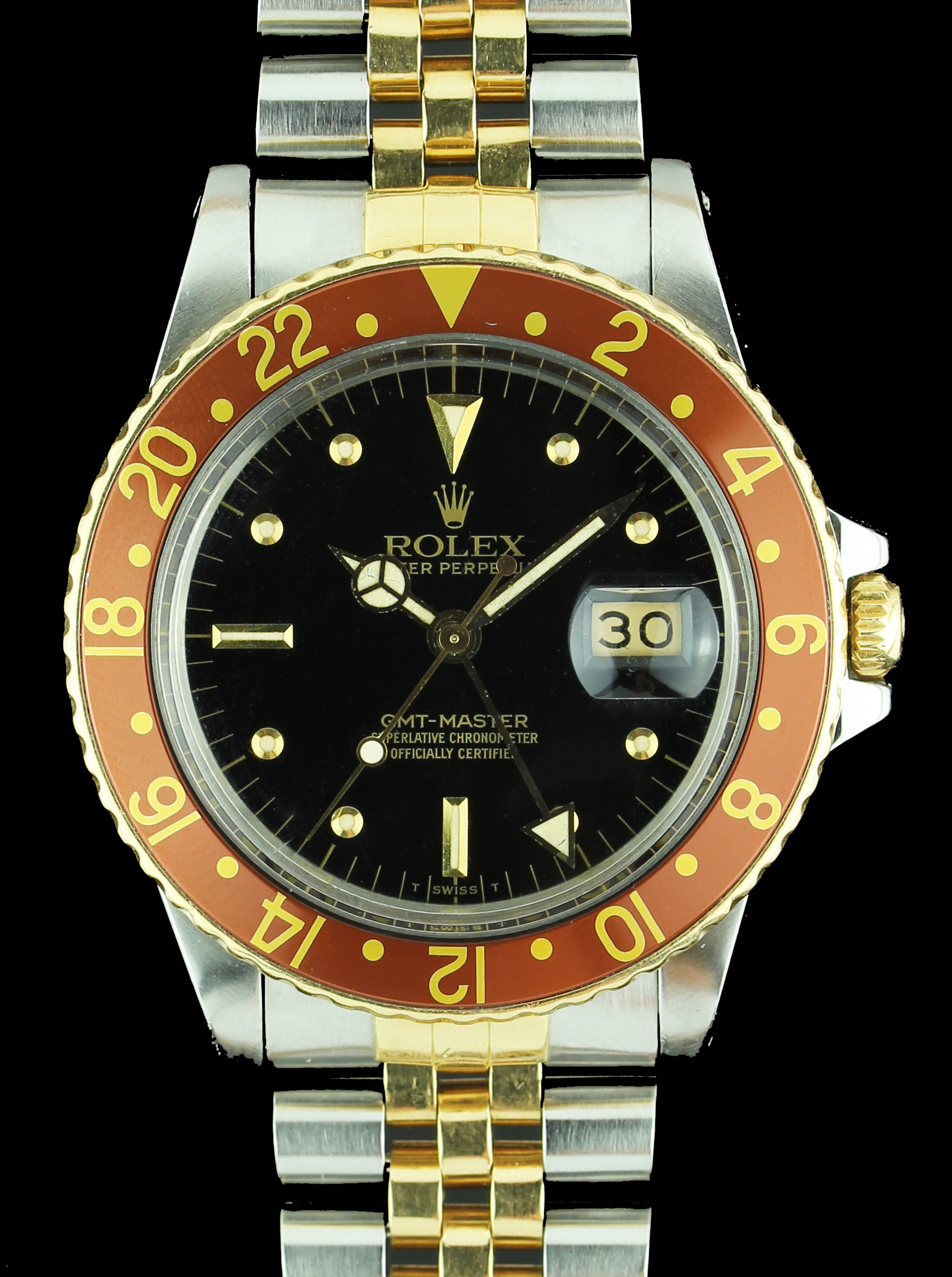 ROLEX GMT steel/gold