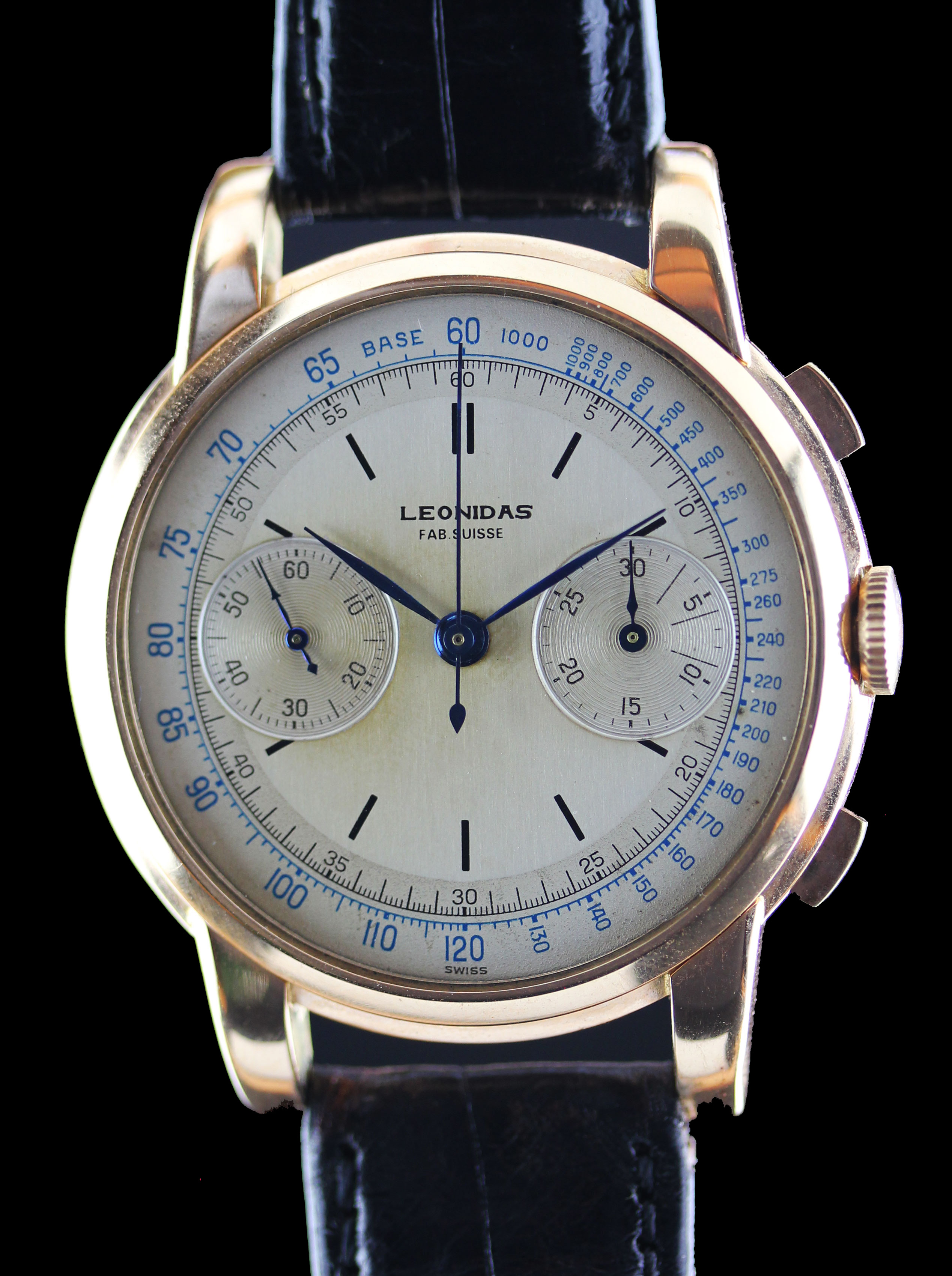 Jumbo chronograph by LEONIDAS in pink gold