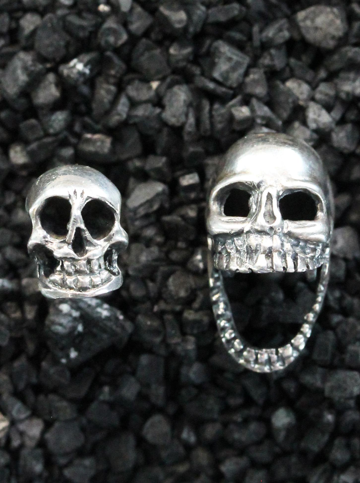 Antique silver skull cufflinks